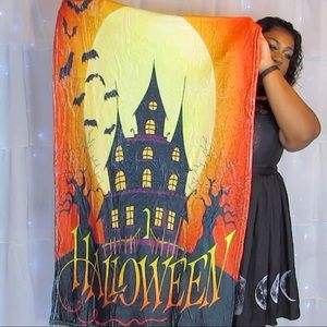 Halloween Moon Night Pattern Soft Flannel Blanket